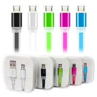 Candy Color Micro Usb Cable Colorful Flat Noodle Date Sync C...