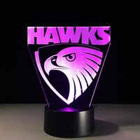 2017 Hawks 3D Illusion Night Lamp 3D Optical Lamp AA Battery...