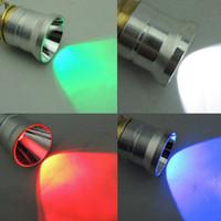 501B 크리 어 Q5 LED 드롭 인 모듈 램프 뚜껑 사냥 손전등 Lanterna 1 모드 녹색 / 빨간색 / 파란색 / 보라색 / 흰색 빛 옵션