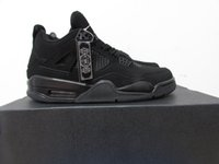 hot sale 4 IV black cat mens Basketball Shoes High Quality 4...