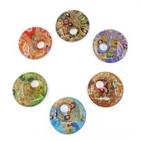 12 pcs / ensemble pendentifs en verre de murano vente chaude mode 12 pcs / boîte pour fabrication de bijoux Diy MC0020