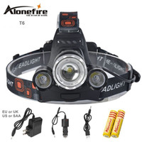 AloneFire HP23 8000Lm zoom Led headlight T6+ 2R5 headlamp or ...