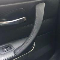 copri maniglia della portiera interna auto in pelle cruda bmw 3 e90 e91 e92 e93 / 318 320 325 330 335 bracciolo auto per BMW Serie 3