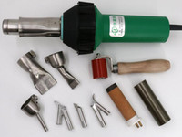 1600W Sıcak hava ısı tabancası PVC kaynakçı Plastik Kaynak Ekipmanları