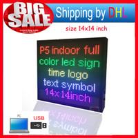 P5 RGB LEDスクロール表示メッセージボード/屋内フルカラーLEDディスプレイ/サポートコンピュータUSBプログラマブルLEDサイン