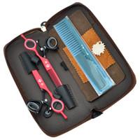 6.0 pulgadas Nuevo Dragón púrpura JP440C Set de cizallas para el cabello 360 grados de rotación Salón Corte de pelo Tijeras de adelgazaje Tijeras de peluquería, LZS0434