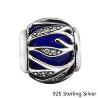 Charms invernali 2017 Adatto a bracciali Pandora 925 gioielli in argento sterling Blue Nature's Radiance Original Fashion Charms Beads