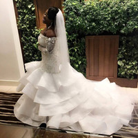 2018 Sexy Plus Size Mermaid Wedding Dresses Sweetheart Off S...