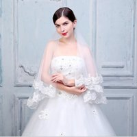 Real photo Best Selling short Wedding Veil 2017 Wedding Accessories High Quality Lace Bridal Veils Mariage gv06