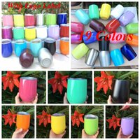 9oz Egg Cup Stemless Cups 19 Colors Stainless Steel Double L...