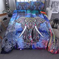 095306a7c 3 Unids / set Bohemia moderna ropa de cama de Lujo Edredón conjunto flor  impresión 3D