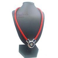 In vera pelle nuovo genuino in pelle fai da te pulsante a scatto fascino magnetico catenaccio pendente collana per donna uomo misura 18mm pulsante