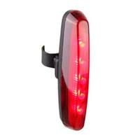 슈퍼 밝은 5 LED 후면 테일 라이트 자전거 자전거 7 모드 안전 4 모드 램프 도매