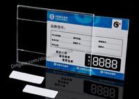 Acrilico T1.2mm Plastica Cartellino del prezzo Segno Etichetta cornice Adesivo da parete Carta Pubblicità promozione Nome Titolari di carta 10 pezzi di buona qualità