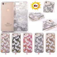 Unicorn Quicksand Liquid Hard PC Funda para PC para Iphone 7 Plus I7 7PLUS 7gen Glitter Bling Horse Star Mágico Dinámico Cover Flow Moviendo la piel de lujo