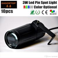 Precio barato 10 Unids / lote 3W LED Pin Punto de Luz Color Blanco Efecto de Haz de Efecto LED Luz de Lluvia Para Disco Bola de Cristal Led Iluminación de Escenario TP-E20