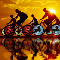 Professional Bike Bicycle 64pcs LED Wheel Light Lamp Waterpr...