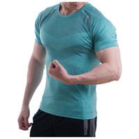 Hombres cómodos camisa deportiva ajustada transpirable
