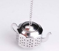 60sets 304 Stainless Steel Silvery Teapot Shape Tea Infuser ...
