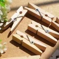 1000 Peças Mini Pregadeiras de Roupa De Madeira Pinos 3.5 * 0.7 cm Natural Mola de Madeira Pegs Pegs Para Foto Papel Artesanato Brinquedo Frete Grátis