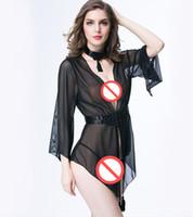 Exquisite Sexy Dessous Frauen Tiefe V Pijama Dessous Transparente Mesh Sexy Dessous Erotische Unterwäsche Kleid Pyjamas für Frauen