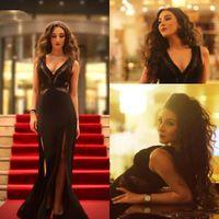 2018 Sexy Глубокий V Шеи Русалка Вечерние Платья Дубай Арабские Женщины Партия Формальная Одежда Особый Случай Платье