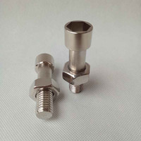 Новейший серебряный винтовой болт Pill Case Secretden Collection Box Safe Metal Mental Conseher Stask