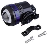 Catuo 1 xUniversal Black Shell U3 LED 30W Motor Bike Faro del motociclo Luce Spot Angel Eye