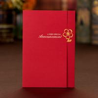 2017 hochzeitseinladungen setzt frei drucken mit vergoldet blume rot chinesische personalisierte hochzeitseinladungen karten # bw-i0027