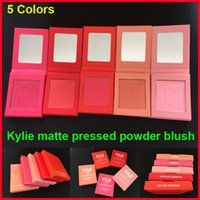 Kylie Cosmetics matte pressed powder blush X Rated Barely Le...