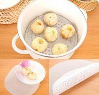 24cm Round Silicone Eco-friendly Steamer Pad Steamed Stuffed Bun Bread Pad Household Steamer Steamed Dumplings Mat