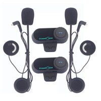 FreedConn 2Pcs Set Motorcycle Bluetooth Helmet Interphone St...