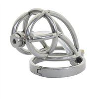 Stainless Steel Male Chastity Device with Catheter,Cock Cage,Chastity Belt,Penis Ring,Virginity Lock,Adult Game,Cock Ring CPA143