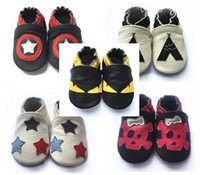 2017 NEW COME cow leather baby first walker shoes, soft sole ...