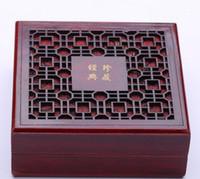 뜨거운 판매 고전적인 나무 조각 된 보석 상자 진주 목걸이 포장 상자 153