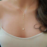 New Simple design 42 45 55 CM Alloy Chain Long Pendant Neckl...