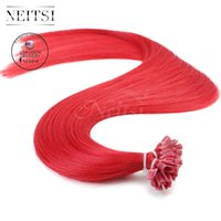 Neitsi USA Stock 16 '' Pre bonde U Tip Extensions de cheveux humains Straight Highlight Cheveux brésiliens 25g / lot 1g / s