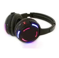 Livraison gratuite!! Casque rf sans fil stéréo professionnel de casque sans fil disco de DJ avec la lumière clignotante menée dj la conférence de partie silencieuse