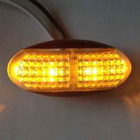 2 PCS 4 LED Lado Marcador Apuramento Lâmpada Super Brilhante Piranha Luzes 12 V 24 V Reboque Do Caminhão Do Carro UTE Amarelo Vermelho Branco