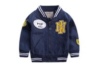 NY Baby Boy jacket Tops Children baseball clothes new spring...