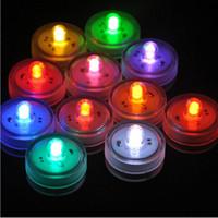 LED sumergible impermeable a prueba de agua luces de té blanco LED decoración vela fiesta de boda de alta calidad iluminación interior para el tanque de pescado, estanque 12pcs / set