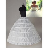Vestido de bolas Super Barato 6 Hoops Petticoat Bodas Resbalón Crinoline Bridal Subskirt Layes Slip 6 Hoop Falda Crinolina Para Vestido Quinceañera