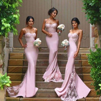 Hot Sale Satin Lace Sexy Mermaid Lilac Bridesmaid Dresses 20...