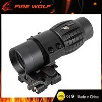 النار الذئب التكتيكية البصرية البصر 3x المكبر نطاق الاتفاق الصيد riflescope مشاهد مع صالح لل 20 ملليمتر بندقية بندقية السكك الحديدية جبل
