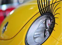 ブラック3D車のまつげ車の目の赤い3Dまつげ3D車のロゴステッカー200ピース(= 100ペア)DHL送料無料