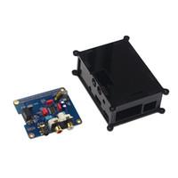 Freeshipping Raspberry pi 3 Modulo scheda audio audio Interfaccia I2S Scheda di espansione HIFI DAC + Custodia nera in acrilico per Raspberry pi 2/3 modello B