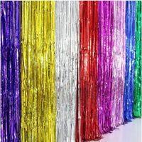 Cinta colorida decoración de la fiesta de cumpleaños de la boda Borlas de globo Diseño de la pared Borlas para la fiesta de Navidad 2M color mezclado