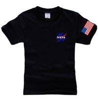 NASA T Shirt Men Fashion Summer Cotton Hip Hop Tees Brand Cl...