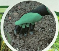 50pcs Garden Genie Gloves With Fingertips Claws Green Dig an...