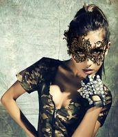 Европейская и американская модная кружевная маска со вкусом короны, 2017 новая танцевальная маска для ночного клуба, маска для тематической вечеринки, Сексуальное кружево, пасхальная вечеринка Полумаска
